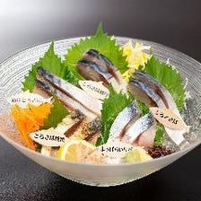 とろさばとブランド鯖のお刺身五種盛り合わせ