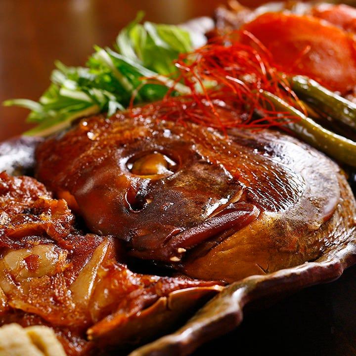 名物『鯛の煮付け』は好評♪単品でもご用意できます