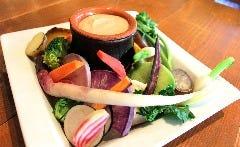 色々季節野菜の温野菜 バーニャカウダ仕立て