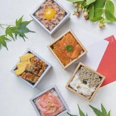 小箱寿司 ~蟹・サーモンいくら・ねぎトロ・うなぎ・イカ明太~