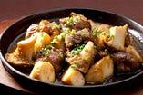 やわらか牛肉とエリンギのキューブカットステーキ