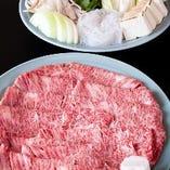 岡山県産の国産黒毛和牛を心行くまでお楽しみください。