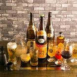飲み放題付プランは、+500円(税抜)で全ドリンクが飲み放題に!
