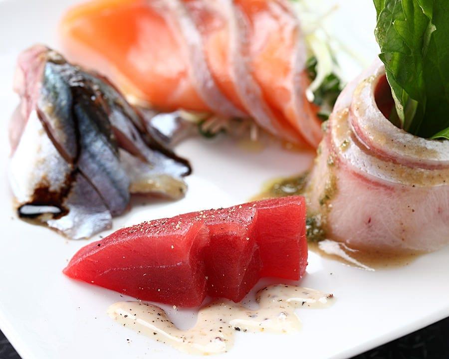 清水ならではの新鮮なお魚たちのカルパッチョ