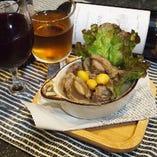 銀杏と砂肝の白ワイン煮込み