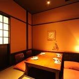 接待・会食に最適な掘りごたつとお座敷の完全個室ございます。