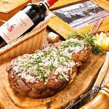 ワインに合う肉料理&逸品料理◎