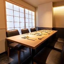 接待利用など利用可能な個室席