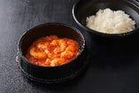 テイクアウト 海老のチリソース丼 ¥1,600