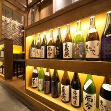当店自慢の日本酒コレクション!