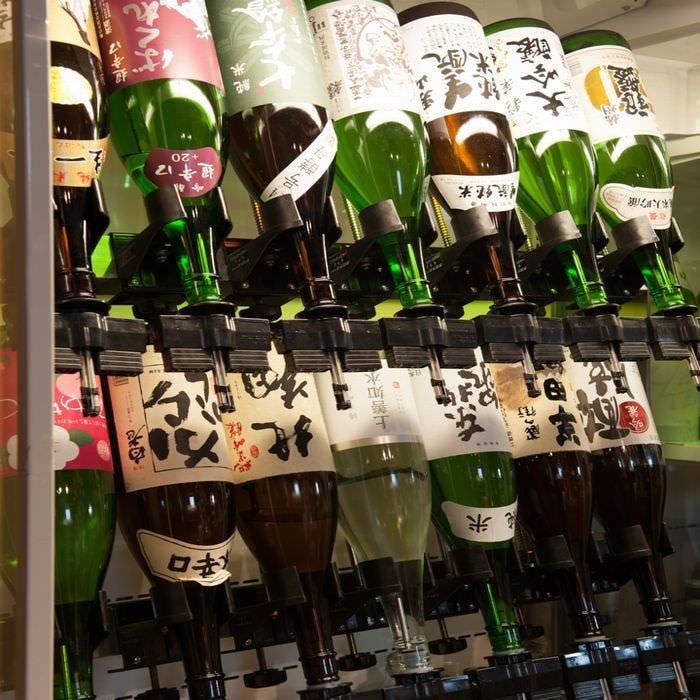 ある月の呑み放題のコーナーは冷酒14種 常温・熱燗用6種!!