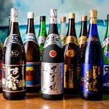沖縄の全酒造を網羅した泡盛は20種類を超える豊富なラインナップ