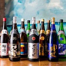 沖縄にある全酒造の島酒が楽しめる
