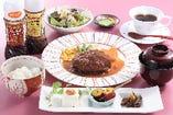 和風ハンバーグ膳 10食限定! 姉妹店ステーキ佳紋の人気ハンバーグが登場