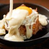 チーズ鉄板キムチチャーハン