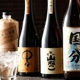 日本酒、焼酎を多彩にご用意