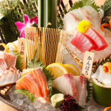 【其の一】磯盛り 〜本日の産直鮮魚造り盛り合せ〜