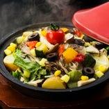 18品目の蒸し野菜サラダ
