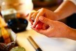 寿司職人が握る本格寿司は、飲んだ後の締めに最適!!