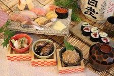 こだわり寿司プランが人気