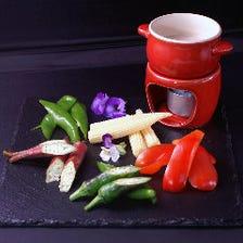 季節の野菜を多彩な調理法でご提供