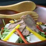 牛タンしゃぶと手作り朧豆腐サラダ