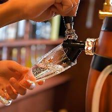 自慢の肉料理と相性抜群のワイン