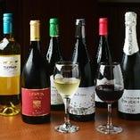 20種類のワインを常備