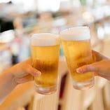 キンキンに冷えたビールでカンパーイ♪