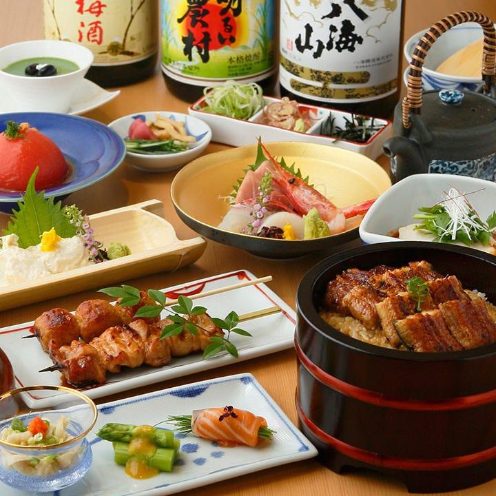 鮒忠を味わうコース6,500円(税抜)