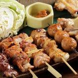 串焼き5本盛り(ざっくりキャベツ・辛みそ付き)