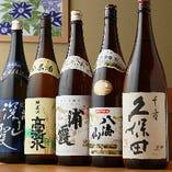 """日本酒や""""八海山""""や""""浦霞""""など、定番で飲みやすいものをセレクト"""