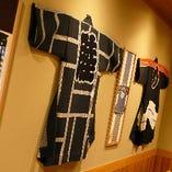 「江戸の粋」をテーマにした店内は、招木札や提灯を飾るなど、装飾にもこだわりました