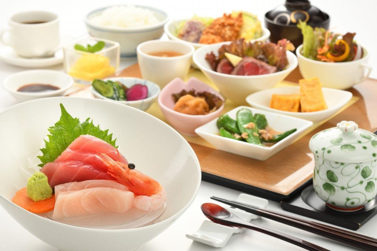 彩菜ランチプレート Bランチプレート(お刺身グレードアップ)