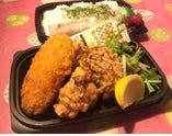 鶏唐揚げ&コロッケ弁当