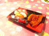 握り寿司5個&うなぎ蒲焼