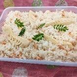 桜海老タケノコご飯