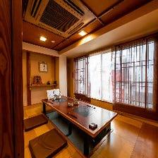 3階には純和風の完全個室を完備