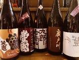 常時70本の日本酒があります。