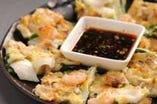 【焼肉屋のチヂミ】 本場韓国料理 オモニの味!