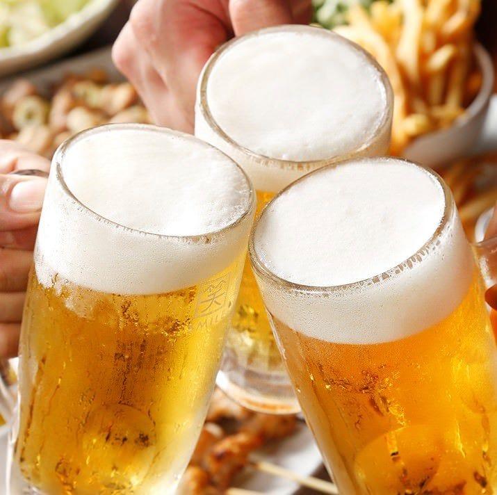 生ビール含む30種以上♪2H飲み放題1500円