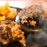 黒毛和牛100% 桜島の溶岩で焼き上げるRansのハンバーグ