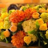 高砂席・装花のご用意も可能です♪