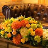 高砂席・装花のご用意いたします!