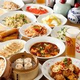 家常菜コース全10品 飲み放題付3980円(税込)