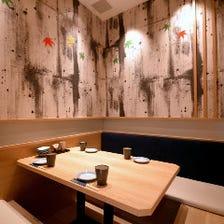 白木調の和個室