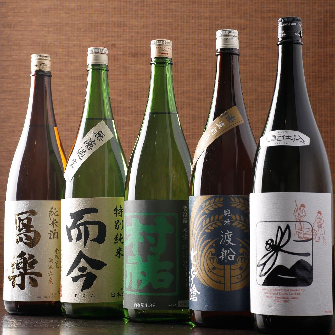 全国の厳選した日本酒を 常時50種以上480円~