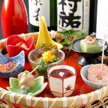 【全8品5,500円】日本酒好き必見!おさけが進む会席「和醸良酒」 名物!八寸八種盛り合せ付き