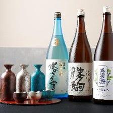 日本酒は常時50種以上グラス550円~