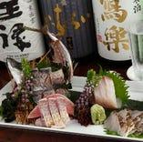 メニューは入荷により一定ではありませんが、お刺身はもちろん、煮たり、焼いたり、揚げたりと!